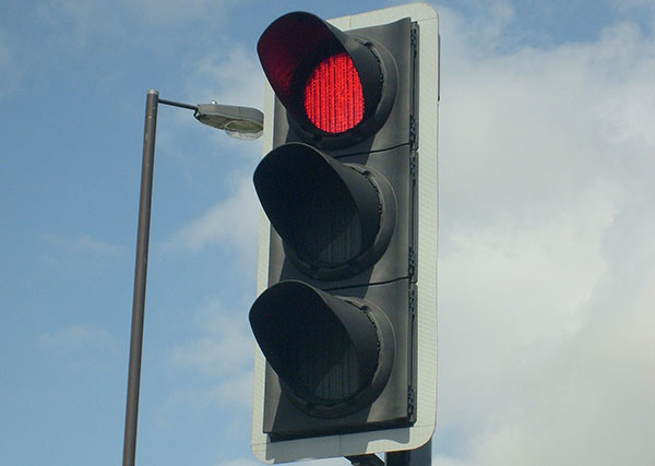 Don't see red at traffic light queues…